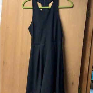 Lulu's black shift dress with open back